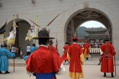 Royal guards, Seoul, Korean Republic Royalty Free Stock Photo