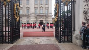 The Queen guards at Buckingham Palace. stock photography