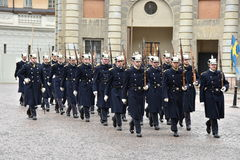 The Royal Guards of Sweden Royalty Free Stock Images