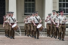 Your Majesty royal guards changing ceremony at Whitehall. The orchestra Royalty Free Stock Photos