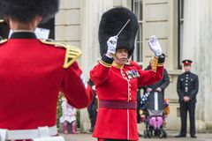 Your Majesty royal guards orchestra in Whitehall yard Stock Photography