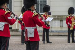 Your Majesty royal guards orchestra in Whitehall yard Royalty Free Stock Image