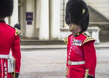 Your Majesty royal guards in Whitehall yard Stock Photos