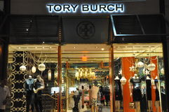 Royal Hawaiian Center Shopping in Oahu, Hawaii. Tory Burch at Royal Hawaiian Center Shopping in Oahu, Hawaii. It is a four-level, open-air commercial retail stock image