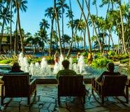 Royal Hawaiian Hotel. Waikiki Beach, , Oahu,  Hawaii, USA - September 5, 2015:  World famouns Waikiki Beach is home to many luxury resort hotels, including the ` Royalty Free Stock Photography