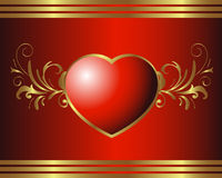Royal Heart Royalty Free Stock Image