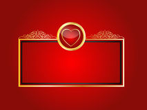 Royal Heart background Stock Images