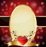 Royal heart card Stock Photos