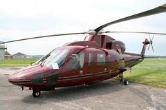 Royal Helicopter. The Royal Helicopter, Queen's Helicopter Royalty Free Stock Photography