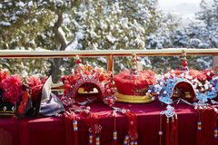 Royal helmets and head wears Royalty Free Stock Photo