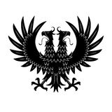 Royal heraldic double headed eagle black symbol Royalty Free Stock Images