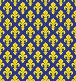 Royal Heraldic Lilies, seamless pattern stock illustration