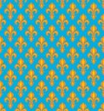 Royal Heraldic Lilies, seamless pattern Royalty Free Stock Images