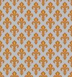 Royal Heraldic Lilies, seamless pattern Royalty Free Stock Image