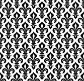 Royal heraldic Lilies, seamless pattern. Royal heraldic Lilies (Fleur-de-lis) — wallpaper background, seamless pattern Royalty Free Stock Images