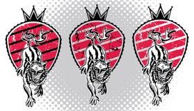 Royal heraldic lion shield illustration Royalty Free Stock Photo
