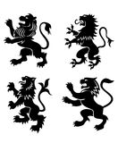Royal heraldic lions Royalty Free Stock Photos
