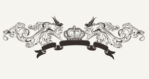 Royal High Ornate Text Banner Royalty Free Stock Photography