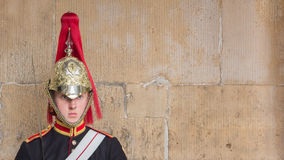 A royal hiorse guard in London UK Stock Photography