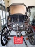 A royal horse-drawn carriage. Ayutthaya, Thailand - Oct  23, 2014 : A royal horse-drawn carriage inside Bang Pa-In Royal Palace Stock Images