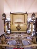 A royal horse-drawn carriage. Ayutthaya, Thailand - Oct  23, 2014 : A royal horse-drawn carriage inside Bang Pa-In Royal Palace Royalty Free Stock Photography
