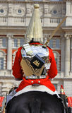 Royal Horse Guard. Close up details of a Royal Horse Guard during the changing of the guard at Horse Guards Parade, London, England Royalty Free Stock Photography