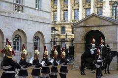 Royal horse guards Royalty Free Stock Photos