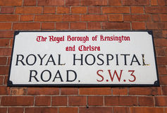 Royal Hospital Road in Chelsea Royalty Free Stock Images