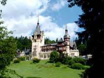 Royal House. Summer Time Residence of a Royal family. Romania - Sinaia city royalty free stock photography
