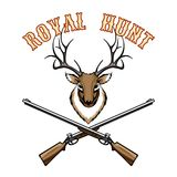 Royal hunt vintage label Royalty Free Stock Image