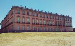 The Royal Hunting Lodge of Riofrío. Baroque Bourbon palace in secluded Segovia woodland Stock Image