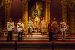 The Royal Images of Chakri Dynasty Kings Stock Photos