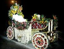 Royal Indian Horse drawn wedding carriage stock image