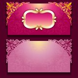 Royal invitation card with frame. Vector royal invitation card with frameand filigree ornament, place for text Royalty Free Stock Image