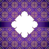 Royal invitation card in purple color Royalty Free Stock Photos