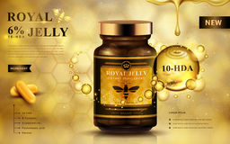 Royal jelly ad vector illustration