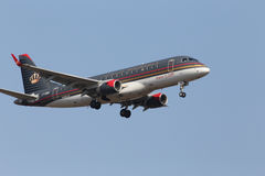 Royal Jordanian Embraer ERJ-175LR aircraft Stock Photography