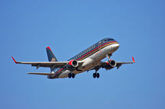Royal Jordanian Embraer ERJ-175 Royalty Free Stock Images