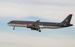 Royal Jordanian-Luchtbus A321 stock foto's