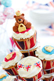 Royal Jubilee cupcakes Stock Photos