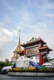 Royal Jubilee Gate. Bangkok, Thailand - October 1, 2014: People are praying to the gods at Royal Jubilee Gate on Nine Emperor Gods Festival, Bangkok, Thailand Stock Image