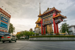 Royal Jubilee Gate. Bangkok, Thailand - October 5, 2014: Royal Jubilee Gate is the place that people come to praying for someone or something, Bangkok, Thailand Royalty Free Stock Photography