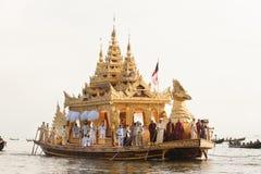 Royal Karaweik Barge in Phaung Daw Oo Pagoda festival,Myanmar. Stock Images