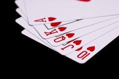 royal kasę czarny karty odizolowywam bawić się Zdjęcia Stock