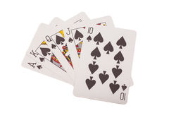 royal kasę karty spłukuje grać w pokera królewskie Zdjęcia Royalty Free