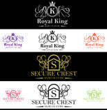 Royal King Crest Logo Royalty Free Stock Photography