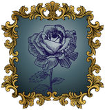 Royal King Frame with Rose Stock Images