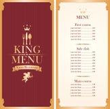 Royal king menu Royalty Free Stock Photos