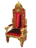 Royal king red and golden throne chair isolated Stock Images