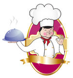 Royal label with chef Royalty Free Stock Images